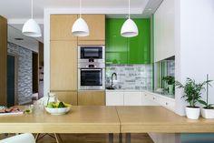 Zielona szafka kuchenna - Kuchnia - Styl Nowoczesny - Aranżacja i wystrój wnętrz - Dom z pomysłem