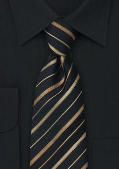 Formal silk ties Black striped necktie - ties shop - fine stripes