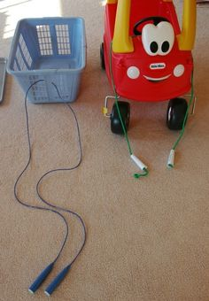 P is for Push and Pull- Gross Motor Activity   Cutting Tiny Bites