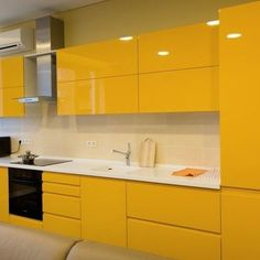 What You Should Do About Modern Yellow Kitchen Cabinets Starting in the Next. - What You Should Do About Modern Yellow Kitchen Cabinets Starting in the Next Seven Minutes – - Kitchen Room Design, Luxury Kitchen Design, Kitchen Cabinet Design, Home Decor Kitchen, Interior Design Kitchen, Home Kitchens, Kitchen Ideas, Yellow Kitchen Cabinets, Kitchen Cabinet Remodel