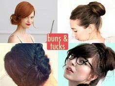 Hair Dos: 10 Beautiful Buns & Tucks Hair Dos: 10 Beautiful Buns & Tucks – The Frisky Work Hairstyles, Party Hairstyles, Wedding Hairstyles, Cut My Hair, Your Hair, Side Chignon, Cute Buns, Beautiful Buns, Bun Tutorials