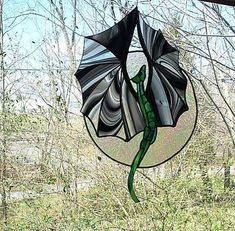 Stained Glass Moon Lite Dragon Flight-SOLD Please contact us if you would like to order one made just for you.
