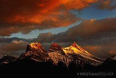Three Sister's / Canmore Alberta  Literally the view I can see from my window!