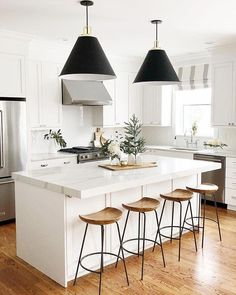 @fairwaytobuckingham's perfect view made complete with our Alden stools! 😍 #swoon Share your style by tagging @westelm! #weekendvibes #kitchengoals #modernkitchens #kitchenideasmodern