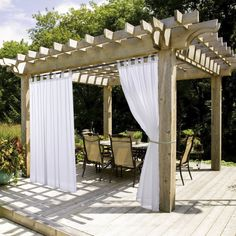 White Sheer Outdoor Curtain Panel - Nicetown Elegant Tab Top Waterproof Curtain for Porch with Rope Tieback (Single Panel, 54 Inch by 84 Inch, White) -- Find out more about the great product at the image link. (This is an affiliate link and I receive a commission for the sales)