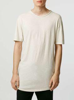 Stone Slub Long Line T-Shirt - Men s T-Shirts   Vests - Clothing 490013e6bdf