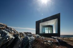 (One of...) series of six artists' studios on Fogo Island, which is located outside of Newfoundland, Canada.