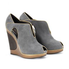 YSL WEDGE ANKLE-BOOTS