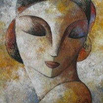 Face with yellow (130 cm x 130 cm)