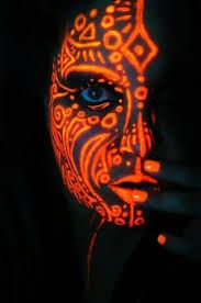 Image result for glow in the dark face paint ideas