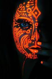 black light face paint - Google Search