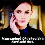 Manscaping? Oh I shouldn't have said that. || Jemma Simmons || 1x11 The Magical Place || 160px × 160px || #animated #quotes