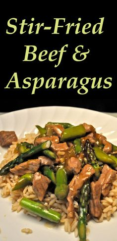 An easy stir-fry with the first asparagus of spring