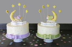 Gender Reveal Cakes for Twins - Sweet Delights Cakery