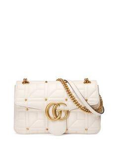 66b29a58cb66 GUCCI Gg Marmont Studded Matelassé Leather Medium Chain Shoulder Bag. #gucci  #bags #
