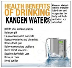 The Kangen Alkaline Ionized Water Lady FEEL AND TASTE THE DIFFERENCE. Ask about your free trial, promotions, financing. 416 913.0485
