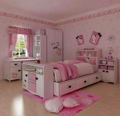Bedroom Design, Excellent Little Girl Room Decor Furnitures In Preteen Girls Bedroom With Purple Scheme Also Single Sized Bed And Study Desk. Girls Bedroom, Cat Bedroom, Kids Bedroom Sets, Small Room Bedroom, Bedroom Themes, Bedroom Decor, Bedroom Ideas, Small Rooms, Bedroom Furniture