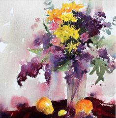 Lilac and lemons by Vinita Pappas