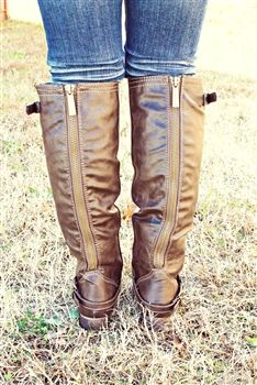 Outlaw Riding Boot - Brown with MONOGRAM $67.99 #SouthernFriedChics