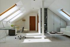 Na Miarę 1 - wizualizacja 6 - Nowoczesny projekt domu z kuchnią od frontu Dream House Plans, Interior Inspiration, How To Plan, Cabinet, Storage, Furniture, Car Garage, Villas, Design