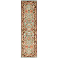 Heritage Blue/Brown 2 ft. 3 in. x 22 ft. Runner
