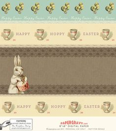 Printable Easter Gift Digital Scrapbook Paper | The Graphics Fairy by Nikki from Paper Gravy