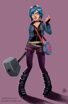 Fanart Friday! I drew Ramona Flowers from Bryan Lee O'Malley's magnificent Scott Pilgrim.