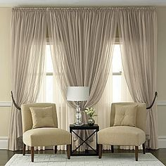 Sheer, neutral, and classy. Create this look for less with FabricSeen.com