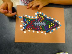 Fourth grade artists are learning all about the Australian Aboriginal dot paintings. We looked at many different examples, some very old a...