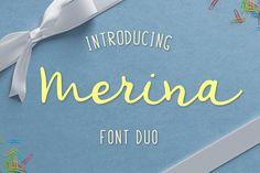 Merina Font Duo by Roman Jokiranta on @creativemarket
