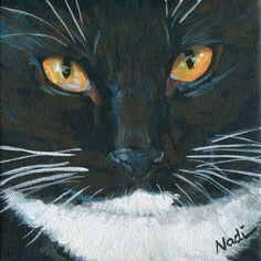 "Daily Paintworks - ""Cat Eyes 3"" - Original Fine Art for Sale - © Nadi Spencer"