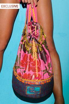 #floral #patterns are my #fav :)  Mar de Rosas Swimwear 'Floral Gem' #Beach #Bag by Mar de Rosas 2013 | The Orchid Boutique