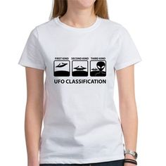 UFO Classification Women's Classic T-Shirt UFO Classification Women's T-Shirt by roswellboutique - CafePress Yeezy Outfit, Mens Yeezy, Fade Designs, Tee Design, Ufo, Aliens, Short Sleeve Tee, Classic T Shirts, Kids Outfits
