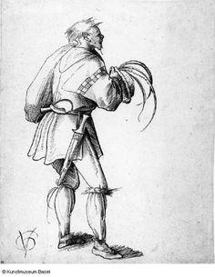 Artist: Graf, Urs, Title: Bauer, nach rechts gewendet, Date: ca. 1512