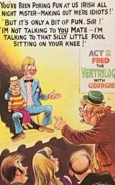 Funny Long Jokes, You Funny, Really Funny, Funny Memes, Hilarious, Funny Postcards, Old Postcards, Cartoon Jokes, Cartoon Pics
