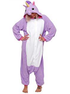 Adult Kigurumi Purple Unicorn Costume
