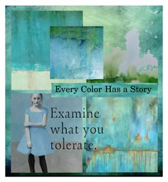 """""""Every Color Has a Story"""" by juxtaposejane ❤ liked on Polyvore featuring art"""