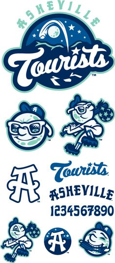 Asheville Tourists logos by Brandiose