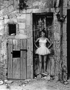 La Danseuse a La Porte, Arles, France, 1955 by Lucien Clergue.