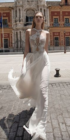 alon livne 2017 bridal sleeveless halter neck keyhole heavily embellished bodice elegant sexy glamorous sheath wedding dress (venus) mv -- Alon Livne White 2017 Wedding Dresses
