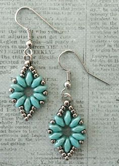 Linda's Crafty Inspirations: Mystery SuperDuo Bracelet Set - Turquoise & Silver