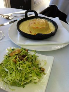 Double baked cheese soufflé at Chewton Glen