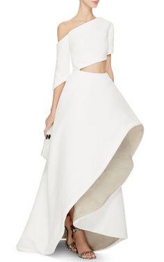 Asymmetric Cutout Charlie Gown by Rosie Assoulin - Moda Operandi