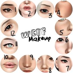 """nemuuuuuuu: """" As requested, here are my favourites (or favorites?) makeup custom content. """" 1. Eyeshadow (#02), eyeliner. 2. Lipstick*, """"dry lips"""". 3. Eyeshadow (#01, not sure). 4. Freckles (V5). 5...."""