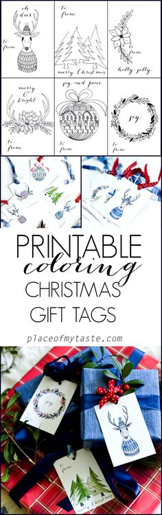 Printable Coloring Christmas gift tags! How adorable! Get your pencils and color away! #prismacolor #coloringwithmichaels #ad
