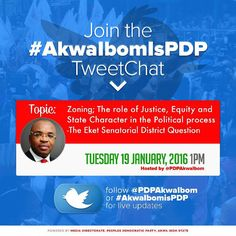 A/IBOM PDP TO HOST SOCIAL MEDIA CONFERENCE  The Peoples Democratic party PDP Akwa Ibom state has announced its plans to host a new media conference on Tuesday.  According to the official release the conference is designed as an online platform for the people of Akwa Ibom State at home and in diaspora and the global audience to share their views on the politics and development of the state.  The conference organized by the media directorate of the party will have as its theme: Zoning: The…