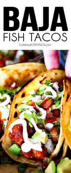 Make adjustments to make low carb  Crispy fried Baja Fish Tacos