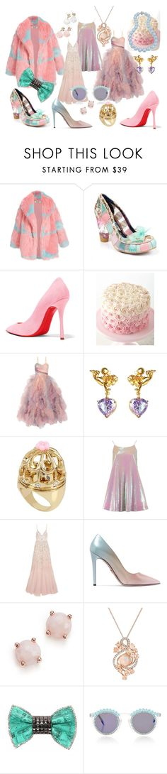 """""""Let 👏 Them 👏 Eat 👏 Cake"""" by calico-cat ❤ liked on Polyvore featuring Irregular Choice, Christian Louboutin, Marchesa, Metal Couture, Betsey Johnson, Needle & Thread, Prada, Ippolita, LE VIAN and Bijoux de Famille"""