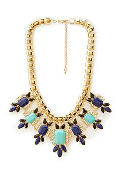 Posh Bejeweled Statement Necklace | FOREVER21 - 1000107154