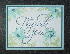Avant Garden Thank You by Broom - Cards and Paper Crafts at Splitcoaststampers